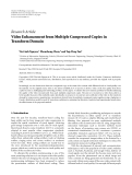 """Báo cáo hóa học: """"   Research Article Video Enhancement from Multiple Compressed Copies in Transform Domain"""""""