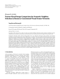 """Báo cáo hóa học: """"  Research Article Feature-Based Image Comparison for Semantic Neighbor Selection in Resource-Constrained Visual Sensor Networks"""""""