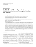 "Báo cáo hóa học: ""   Research Article Novel Data Fusion Method and Exploration of Multiple Information Sources for """