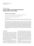 """Báo cáo hóa học: """"  Research Article A Content-Motion-Aware Motion Estimation for Quality-Stationary Video Coding Meng-Chun Lin and Lan-Rong Dung"""""""