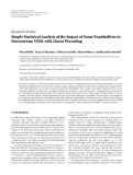 """Báo cáo hóa học: """" Research Article Simple Statistical Analysis of the Impact of Some Nonidealities in Downstream VDSL with Linear Precoding"""""""