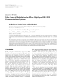 "Báo cáo hóa học: ""  Research Article Pulse Interval Modulation for Ultra-High Speed IR-UWB Communications Systems"""