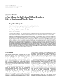 """Báo cáo hóa học: """" Research Article A New Scheme for the Design of Hilbert Transform Pairs of Biorthogonal Wavelet Bases Hongli Shi and Shuqian Luo"""""""