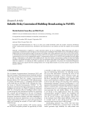 """Báo cáo hóa học: """" Research Article Reliable Delay Constrained Multihop Broadcasting in VANETs"""""""