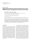 "Báo cáo hóa học: ""  Research Article Hidden Markov Model with Duration Side Information for Novel HMMD Derivation, with Application to Eukaryotic Gene Finding"""