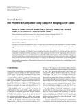 "Báo cáo hóa học: "" Research Article Full Waveform Analysis for Long-Range 3D Imaging Laser Radar"""