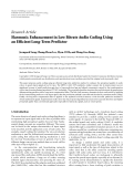 """Báo cáo hóa học: """"  Research Article Harmonic Enhancement in Low Bitrate Audio Coding Using an Efficient Long-Term Predictor"""""""