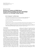 """Báo cáo hóa học: """" Research Article Performance Analysis of OFDM-Based Decode-and-Forward Relay Network with Multiple Interferers over Rayleigh Fading Channels"""""""