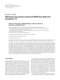 """Báo cáo hóa học: """"  Research Article Multimode Transmission in Network MIMO Downlink with Incomplete CSI"""""""