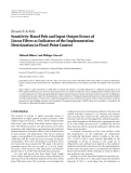 "Báo cáo hóa học: ""  Research Article Sensitivity-Based Pole and Input-Output Errors of Linear Filters as Indicators of the Implementation Deterioration in Fixed-Point Context Thibault Hilaire1 and Philippe Chevrel2"""