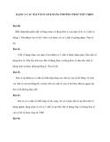 DẠNG 3: CÁC BÀI TOÁN GIẢI BẰNG PHƯƠNG PHÁP THỬ CHỌN