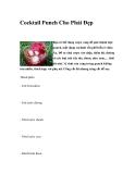 Cocktail Punch Cho Phái Đẹp
