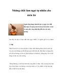 Những chất làm ngọt tự nhiên cho món ăn