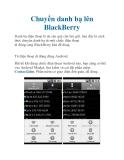 Chuyển danh bạ lên BlackBerry
