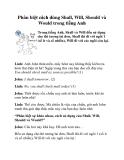 Phân biệt cách dùng Shall, Will, Should và Would trong tiếng Anh