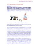 Java hay .NET? Một bài toán nan giải của nhiều Newbie