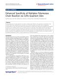 "Báo cáo hóa học: "" Enhanced Specificity of Multiplex Polymerase Chain Reaction via CdTe Quantum Dots"""