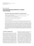 "Báo cáo hóa học: "" Research Article Decentralized Detection in IEEE 802.15.4 Wireless Sensor Networks"""