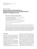 """Báo cáo hóa học: """" Research Article Impact of LQI-Based Routing Metrics on the Performance of a One-to-One Routing Protocol for IEEE 802.15.4 Multihop Networks"""""""