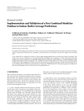 """Báo cáo hóa học: """" Research Article Implementation and Validation of a New Combined Model for Outdoor to Indoor Radio Coverage Predictions"""""""