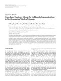 "Báo cáo hóa học: "" Research Article Cross-Layer Handover Scheme for Multimedia Communications in Next Generation Wireless Networks"""