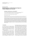 """Báo cáo hóa học: """"  Research Article Partial Interference and Its Performance Impact on Wireless Multiple Access Networks"""""""