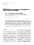 """Báo cáo hóa học: """"  Research Article Joint Sensing Period and Transmission Time Optimization for Energy-Constrained Cognitive Radios"""""""