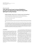 "Báo cáo hóa học: "" Research Article Trade-Offs between Energy Saving and Reliability in Low Duty Cycle Wireless Sensor Networks Using a Packet Splitting Forwarding Technique"""