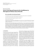"Báo cáo hóa học: "" Research Article Secure Clustering and Symmetric Key Establishment in Heterogeneous Wireless Sensor Networks Reza Azarderskhsh and Arash Reyhani-Masoleh"""