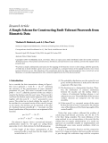 "Báo cáo hóa học: ""  Research Article A Simple Scheme for Constructing Fault-Tolerant Passwords from Biometric Data"""