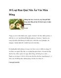 10 Loại Rau Quả Nên Ăn Vào Mùa Đông