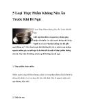 5 Loại Thực Phẩm Không Nên Ăn Trước Khi Đi Ngủ