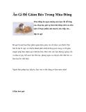 Ăn Gì Để Giảm Béo Trong Mùa Đông