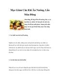 Mẹo Giảm Cân Khi Ăn Nướng, Lẩu Mùa Đông