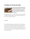 Sử Dụng Trà Trong Ẩm Thực