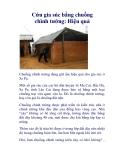 Cứu gia súc bằng chuồng chình tường: Hiệu quả