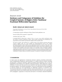 "báo cáo hóa học:"" Research Article Existence and Uniqueness of Solutions for Coupled Systems of Higher-Order Nonlinear Fractional Differential Equations"""