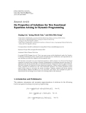 "báo cáo hóa học:"" Research Article On Properties of Solutions for Two Functional Equations Arising in Dynamic Programming"""