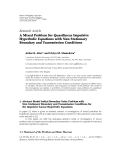 "báo cáo hóa học:""  Research Article A Mixed Problem for Quasilinear Impulsive Hyperbolic Equations with Non Stationary Boundary and Transmission Conditions"""