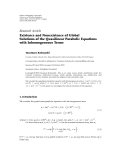 "báo cáo hóa học:"" Research Article Existence and Nonexistence of Global Solutions of the Quasilinear Parabolic Equations with Inhomogeneous Terms"""