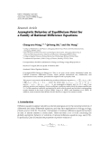 """báo cáo hóa học:""""  Research Article Asymptotic Behavior of Equilibrium Point for a Family of Rational Difference Equations"""""""