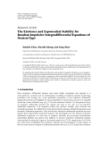 "báo cáo hóa học:"" Research Article The Existence and Exponential Stability for Random Impulsive Integrodifferential Equations of Neutral Type"""
