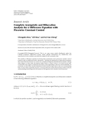 """báo cáo hóa học:"""" Research Article Complete Asymptotic and Bifurcation Analysis for a Difference Equation with Piecewise Constant Control"""""""