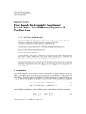 "báo cáo hóa học:""  Research Article Error Bounds for Asymptotic Solutions of Second-Order Linear Difference Equations II: The First Case"""