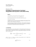"báo cáo hóa học:"" Research Article Solvability of Nonautonomous Fractional Integrodifferential Equations with Infinite Delay"""