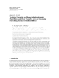 """báo cáo hóa học:"""" Research Article Variable Viscosity on Magnetohydrodynamic Fluid Flow and Heat Transfer over an Unsteady Stretching Surface with Hall Effect"""""""