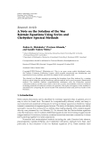 """báo cáo hóa học:""""  Research Article A Note on the Solution of the Von ´ ´ Karman Equations Using Series and Chebyshev Spectral Methods"""""""