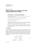 """báo cáo hóa học:"""" Research Article Positive Solutions of a Nonlinear Three-Point Integral Boundary Value Problem"""""""
