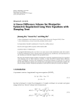 "báo cáo hóa học:""  Research Article A Linear Difference Scheme for Dissipative Symmetric Regularized Long Wave Equations with Damping Term"""