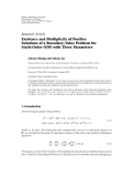 """báo cáo hóa học:""""  Research Article Existence and Multiplicity of Positive Solutions of a Boundary-Value Problem for Sixth-Order ODE with Three Parameters"""""""